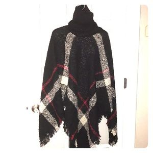 SHAWL black red and cream